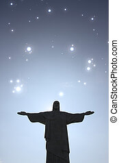 Stars over Cristo Redentor - Stars over the Cristo Redentor...