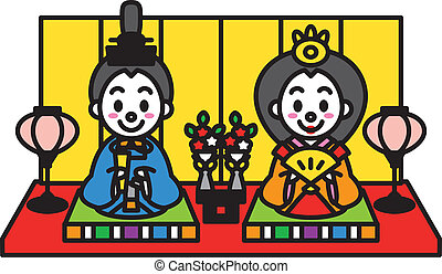 Hinamatsuri, the Dolls Festival of Japan, vector file
