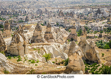mountains near Goreme, Cappadocia, Turkey