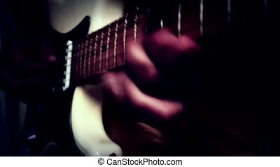 guitar player music rocking