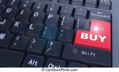 3d keyboard - word buy