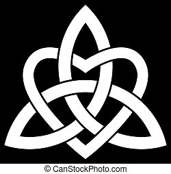 Celtic Trinity knot Triquetra interlaced with a heart