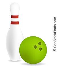 pin bowling ball