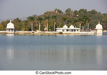 Fateh Sagar lake, Udaipur, India - Fateh Sagar lake,...