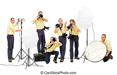 Photo crew - A photo crew during a studio shoot