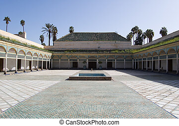 Marrakesh Bahia Palace patio - The Patio of the Bahia Palace...