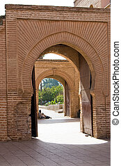 Marrakesh Koutoubia Mosque doorway - Koutoubia Mosque in...