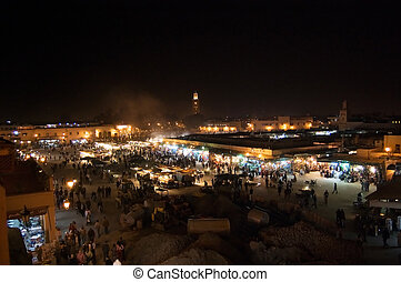 Marrakesh Djemaa el Fna square - The heart of Marrakesh,...