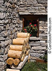 ornamental wood logs
