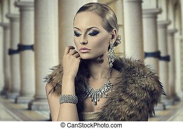 aristocratic sensual fashion woman