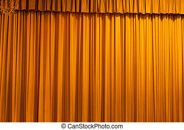 yellow curtain for background use