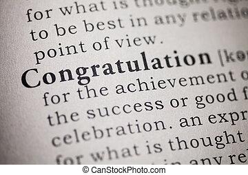 congratulation - Fake Dictionary, Dictionary definition of...
