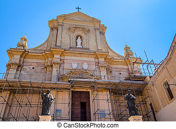 Gozo Cathedral - Cathedral of Gozo situated in the citadel,...