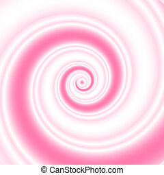 Pink twirl - Double colored twirl - white and pink Abstract...