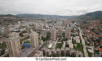 SARAJEVO, BOSNIA AND HERZEGOVINA - JUNE 22: Panoramic view...