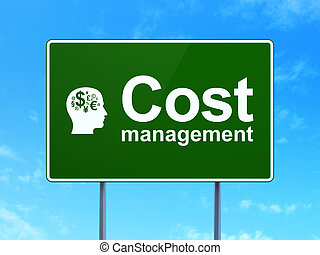 Finance concept: Cost Management and Head With Finance...