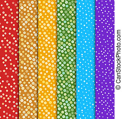 Seamless polka dot patterns.