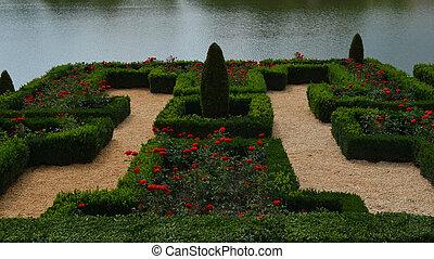 Rose garden lake