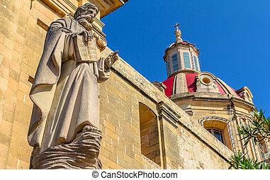 Sannat Religious Statue - Saint statue in the parish...