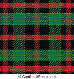 vector seamless pattern Scottish tartan 5, black, red, blue,...