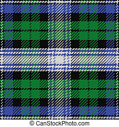 vector seamless pattern Scottish tartan Black Watch 2 -...