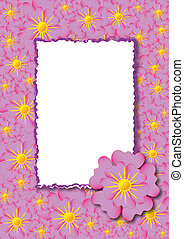 Decorative card with frame
