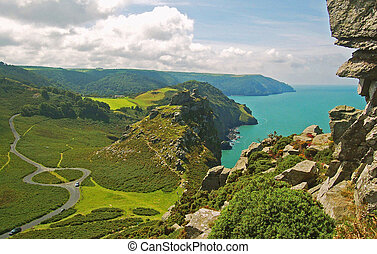 Coastal view - Valley of the Rocks, looking West, near...