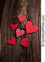 Valentine's day background - Valentines Vintage handmade...