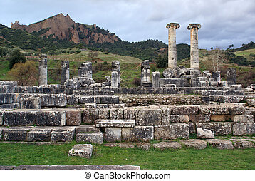 Ruins of Artemis temle in Sardis, Turkey