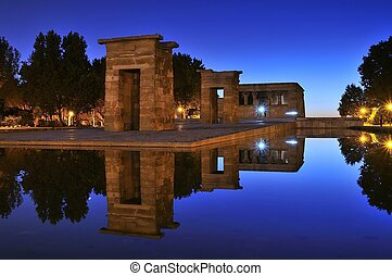 Temple of Debod in Madrid - Temple of Debod in Madrid,...