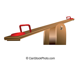 seesaw isolated on white background. 10 EPS