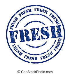 Fresh stamp - Fresh grunge rubber stamp on white, vector...