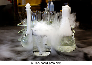 Dry Ice - Carbon dioxide solid in flask