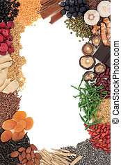 Super Food - Super food selection forming an abstract border...