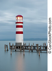 Lighthouse at Lake Neusiedl, Austria