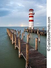 Lighthouse at Lake Neusiedl, Austria