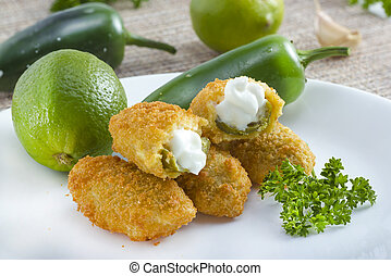 Jalapeno poppers - Mexican-american jalapeno poppers served...