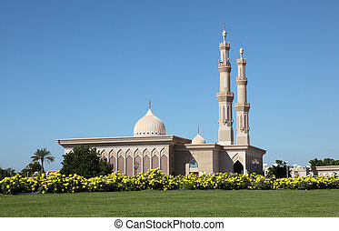 Mosque in the city of Sharjah, United Arab Emirates
