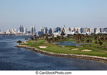 Dubai Creek Golf Course and Yacht Club. United Arab Emirates