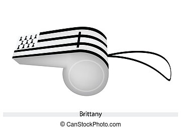 Black and White Stripe on Brittany Whistle - An Illustration...