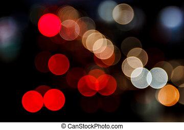Night Bokeh Background