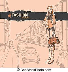 Urban fashion. City and people - Series Urban fashion....