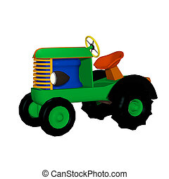 tractor trailer, toy