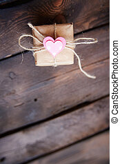 Valentine surprise - Vertical image of valentine giftbox...