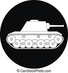 Tank icon on white background - vector illustration.