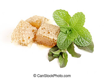 basil (tulsi), mint and honey - Studio shoot with nikon D90,...