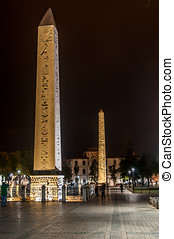 Hippodrome (At Meydani) - Thutmosis' and Walled Obelisk -...