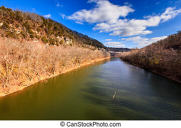Kentucky River Palisades - Scenic view of the Kentucky River...