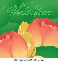 World Peace - lotus flower denotes world peace