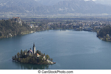 Bled, Slovenia - Iconic picutre of Slovenian landmark Bled...